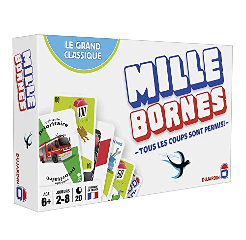 Dujardin–59025Mille Bornes Kartenspiel–Der Klassiker