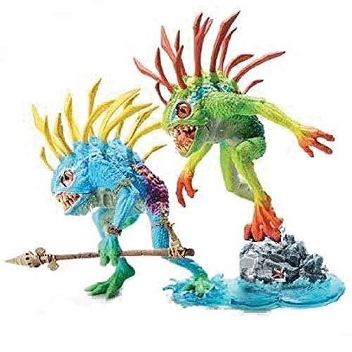 lkw-love World of Warcraft Serie: Murloc Figma - Packung: 9-Zoll-Fischauge und Gibbergill-PVC-Figur