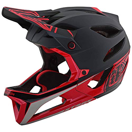Troy Lee Designs Adult Full Face | Enduro | Downhill | Trail | Mountain Biking Stage Race Helmet with MIPS (Medium/Large, Black/Red)