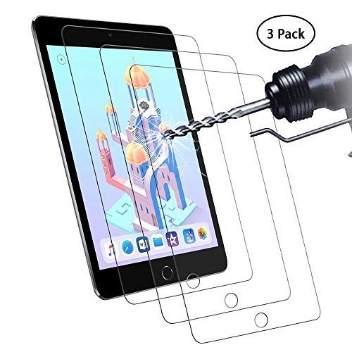 Didisky Panzerglas Hartglas Bildschirmschutzfolie für iPad Mini 5 2019/iPad Mini 4, [ 3er Pack ] Kratzfest, 9H Festigkeit, Keine Blasen, High Definition, Einfach anzuwenden, Fall-fre&lich