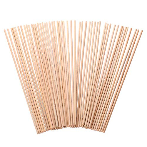 DRhomehouse 100 Piezas de Madera Natural Simplemente Arte Wood Craft Sticks ni/ños Helado Palo