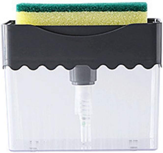Bomba de jabón Con dispensador de jabón sostenedor de la esponja 2-en-1, jabón de la bomba, la tapa contraria Manual de líquido adición Máquina Expendedora Incluido esponja 300ml / 10.1oz Dispensador