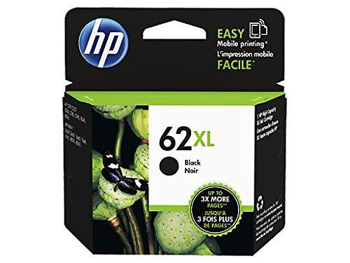 HP 62XL Schwarz Original Druckerpatrone mit hoher Reichweite für HP OfficeJet 200, 5740; HP ENVY 5540, 5640, 7640