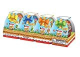 Kinder Joy Treat & Toy Easter Eggs - Sweet Cream Topped With Cocoa Wafer Bits (4 Count - 2.8 Oz Total)