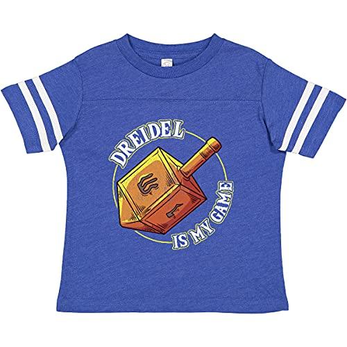 inktastic Hanukkah Dreidel Game Toddler T-Shirt 2T Football Blue and White 389cd