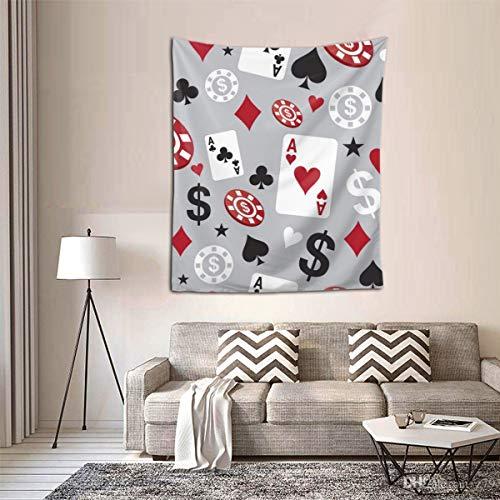 RTBB Poker Casino Währung, 3D-Druck Wandteppich, Wandkunst, Heimdekoration, 152,4 x 129,5 cm