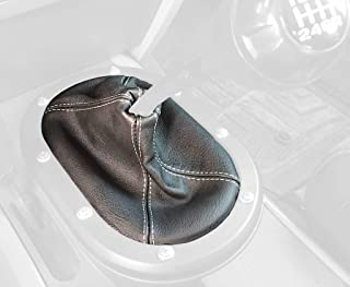 RedlineGoods Shift Boot Compatible with Toyota Tacoma 2005-15 Black Leather-Black Thread