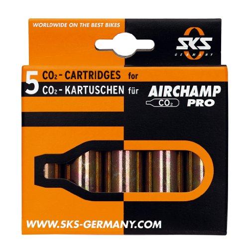 SKS Airchamp Pro CO2 Kartuschen 5er Set gewindelos, 16gr CO2
