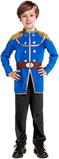 Boy's Prince Charming Costume-Kids Halloween Christmas Party Cosplay Prince Costumes with Belt