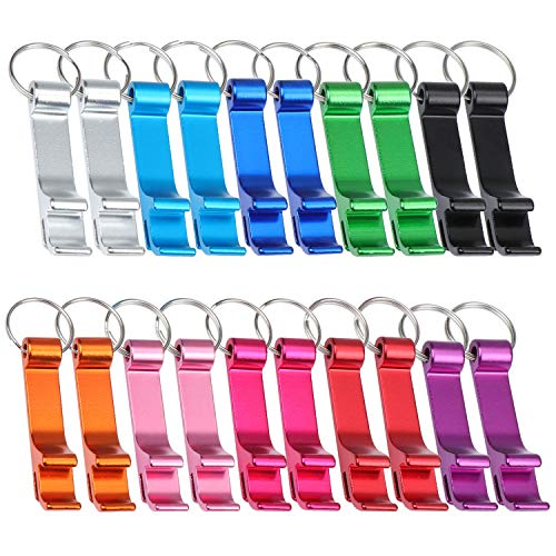 TsunNee Flaschenöffner-Schlüsselanhänger, Taschen-Flaschenöffner, 20er-Pack