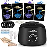 Lifestance Waxing Kit, Starter Wax Warmer Hair Removal Kit with Relaxing Lavender Formulas Hard Stripless Wax Beads, Hard Wax Kit for Body, Legs, Face, Underarm, Bikini, Brazilian