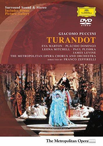 Puccini - Turandot / Franco Zeffirelli - Marton, Domingo, Mitchell, Plishka, Cuenod - James Levine, MET (1988)