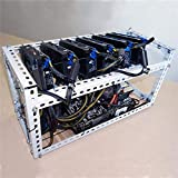 Equipo Minería Minero Marco DIY Plataforma apilable Bitcoin BTC Fama Case Servidor Chasis para 6 Tarjeta gráfica GPU Eth BTC Ethereum - Blanco (En Stock)
