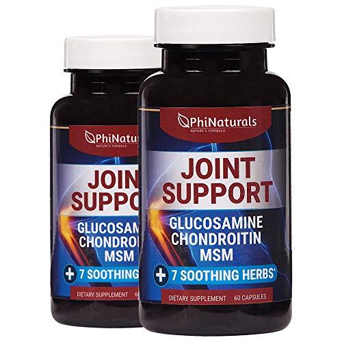 Extra sterkte natuurlijke gewrichtsondersteuning - 60 stuks (pakket van 2) met glucosamine-chondroïtinesulfaat MSM en kurkuma - Voor flexibiliteit bij pijnverlichting Schouderknie - Gemaakt in de VS