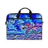 Ahomy Ölgemälde Old Tree Moon 14-15,4 Zoll Multifunktionale Stofftasche Wasserdicht Laptop Tasche...