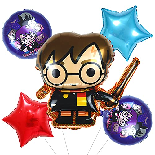 Harry Potter Globos para Fiesta - simyron Mago Artículos de Fiesta Cumpleaños Decoracion para Fiesta Harry Potter Decoración para Cumpleaños Niña (5pcs)