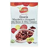 VIVIBIO®- SNACK ANACARDI , MANDORLE & TAMARI SENZA glutine BIO 45 gr - 10 pezzi...