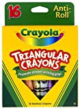 Crayola LLC : Triangular Anti-roll Crayons, Nontoxic, 16/BX, Assorted -:- Sold as 2 Packs of - 16 - / - Total of 32 Each