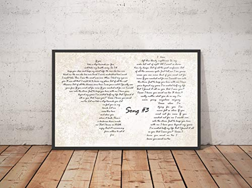 Trendora Decor Song #3 Song Lyrics Landscape Poster Print (24