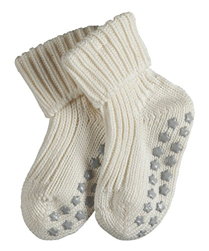 FALKE Baby Socken Catspads Cotton, 1 Paar, Weiß (Off-White 2040), 80-92