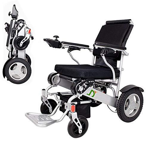 WLD Lichtgewicht opvouwbare elektrische rolstoel, deluxe opvouwbare prestaties Compact Mobility Aid rolstoel, dubbele batterij, Longest Driving Range elektrische rolstoel gfhdfvxcvxvxc