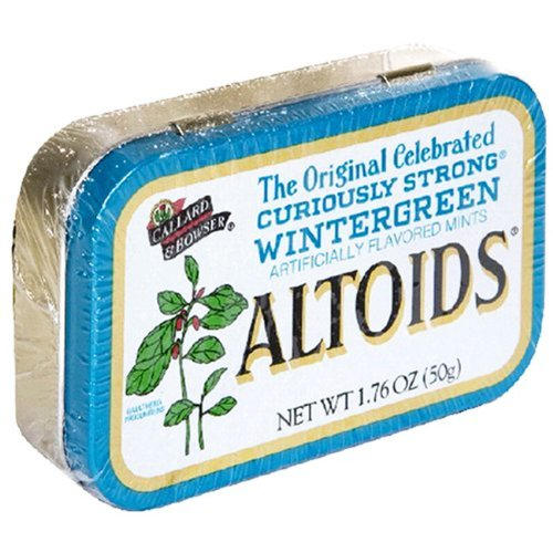 2 Tins Altoids Wintergreen Mints 176 Ounce/Tin