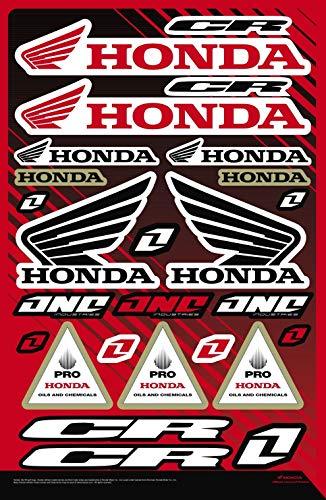 Kit Pegatinas Honda CR ADESIVI PATROCINADOR Moto Compatible para Yamaha KTM Cross Enduro Casco (32)