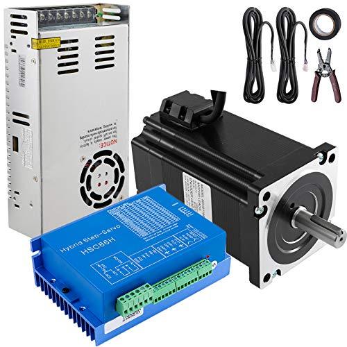 Mophorn Motor Paso a Paso Nema 34 8.5NM Kit CNC Stepper Motor con Fuente de Alimentación Motor Paso a Paso CNC
