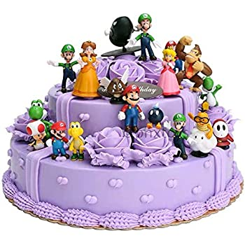 Swell Amazon Com 18 Pcs Super Mario Brothers Cake Topper Figures Toy Personalised Birthday Cards Akebfashionlily Jamesorg