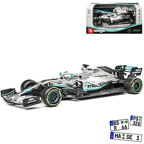 alles-meine.de GmbH Mercedes-Benz AMG W10 EQ Power Weltmeister Lewis Hamilton Nr 44 Formel 1 2019 1/43 Bburago Modell Auto