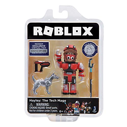 Roblox Gold Collection Hayley: The Tech Mage Single Figure Pack with Exclusive Virtual Item Code