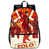 Mochila Infantil 3D Bolso de Escuela Adolescente Ranger Solo: Una historia de Star Wars Han Solo Adecuado para: estudiantes de primaria y secundaria, la mejor opción para viajes al aire libre Tamañ