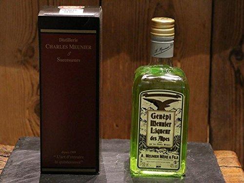 Charles Meunier Grün Genepy Likör - Kräuter-Likör aus den Französische Alpen Genepi Liqueur des Alpes - Alkohol-Gehalt 40 Vol.-{d98b1776a3e6e9a12394cb2833347e10b5fcff0fb6742fb689cc64301c450612} - 0.5l