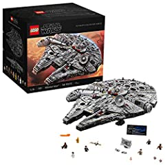 Defend the Galaxy and build the largest LEGO Star Wars Millennium Falcon to date! The perfect set for adult Star Wars fans and expert builders, This starship will inspire hours of play recreating the films or can be displayed as a collectible toy mod...