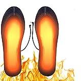Suxman Plantillas Calefactables, Calentadores de Pies, Termosoles con Cable USB, Plantillas Climatizadas,Hombres Mujeres para Alire Libre Invierno Senderismo Camping(M)-No Incluye Power Bank