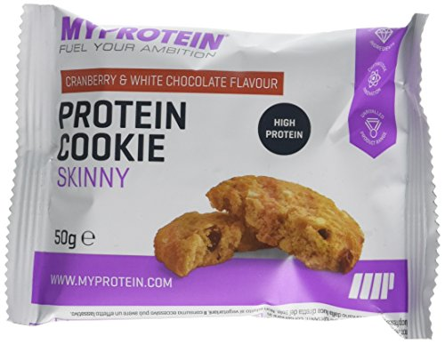 My Protein Skinny Cookie Snack, 50 g, Cranberry/White Chocolate, Pack of 12
