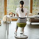 aeris Swopper New Edition Ergonomischer Hocker mit Gleitern – Dynamischer Bürostuhl für einen gesunden Rücken – Vielseitiger Bürohocker und Sitztrainer – 45-59 cm Sitzhöhe, Feder Standard - 7