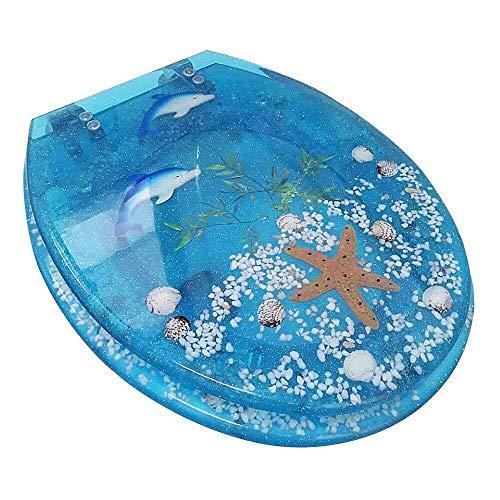 MXueei Verscheidenheid Van Mooie Toiletzetels, Antibacteriële Mute Dikke Effen Toilet Cover Met Zachte Sluiting Toilet Universeel O, U, V,D