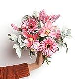 JINLIAN205-SHOP decoración hogar Sala de Estar Dormitorio Arreglo Floral Decoración Decoración Creativa de la Boda Flor Artificial Flores secas (Color : B)