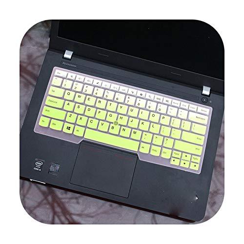 Keyboards Funda de silicona para teclado Lenovo Thinkpad L390 Yoga L380 L 390 380 Yoga Thinkpad Edge S430 E330 E335 E 330-Fadegreen
