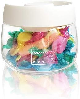 Ferrano(フェラーノ) プッシュ式 真空 耐熱ガラス 保存容器 密閉 キャニスター Carino(カリーノ) (400ml)
