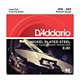 D'Addario J61 Nickel-Plated Steel Medium  (.010-.023) 5-String Banjo Strings