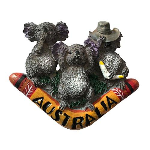 Imán para nevera con diseño de koala 3D, famosos recuerdos de turismo, resina de Australia, imán para nevera, decoración para el hogar y la cocina