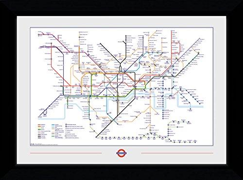 GB eye Ltd Transporte para Mapa del Metro de Londres, Negro (30mm), diseño de el Hobbit 50x 70cm, Madera, Varios, 55x 75x 2.9cm