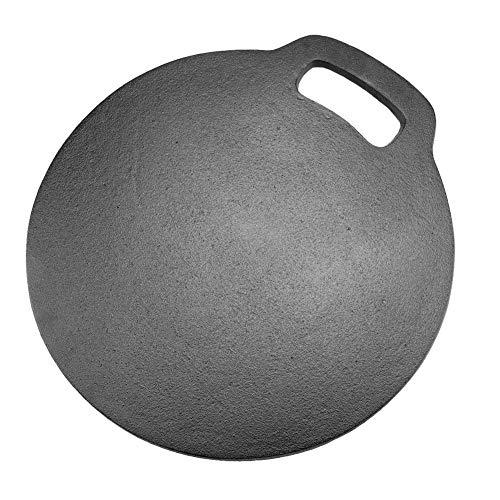 DFKEA Piedra para Hornear Pizza, Placa de Piedra para Hornear de Bollos de Pan de Pizza de Hierro Fundido Antiadherente
