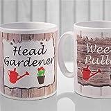 N\A Head Gardener Set Taza de café Personalizada, Taza de cerámica Taza de Bebida de té para el hogar y la Oficina, cumpleaños, Aniversario, Halloween, Día de San Valentín, Idea de Regalo.