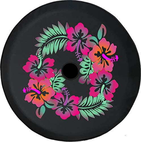 Caps Supply JL Tire Cover Pink Flowers Natures Garden Off Road Adventure Fun 4x4 (Fits: Jeep Wrangler JL Accessories Sport Sahara with Back-Up Camera) 32 Inch 245/75r17, 255/70r18