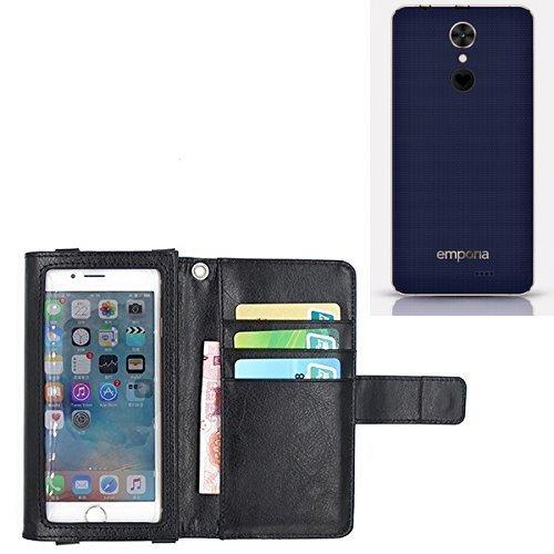 K-S-Trade® Für Emporia SMART.2 Schutz Hülle Case Mit Bildschirmschutz/Schutzfolie Flip Cover Wallet Case Etui Hülle Für Emporia SMART.2 Schwarz