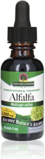 Nature's Answer Alcohol-Free Alfalfa Herb Extract, 1-Fluid Ounce Supports Immune System, Blood, Digestion, Energy Levels -...