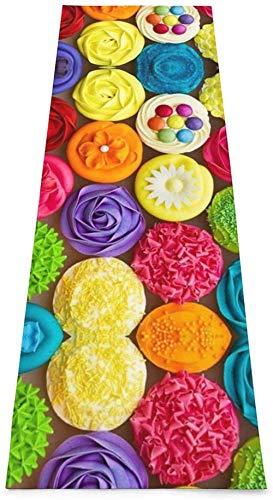 Toalla De Yoga Antideslizante,Cupcakes Coloridos Arco Iris Pastel De Flores Impresión Eco-Friendly Fitness Ejercicio Estera,Esteras De Meditación,Ejercicios De Piso Impreso &Alfombra De Aptitud Pil